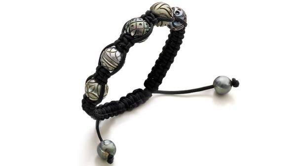 Galatea Tahiti parel armband zwart 5