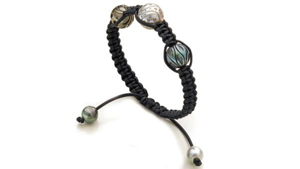 Galatea Tahiti parel armband zwart 3
