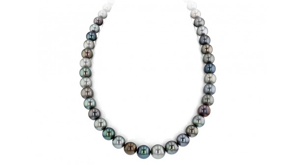 Tahiti parel ketting multicolor Tahitiparels 8-11 mm