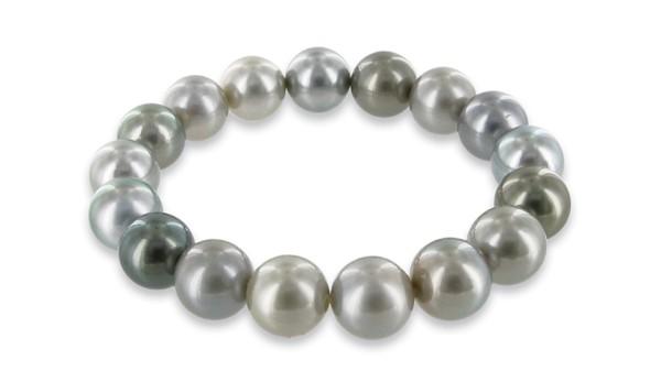 Tahiti parel armband grijs 12-13 mm