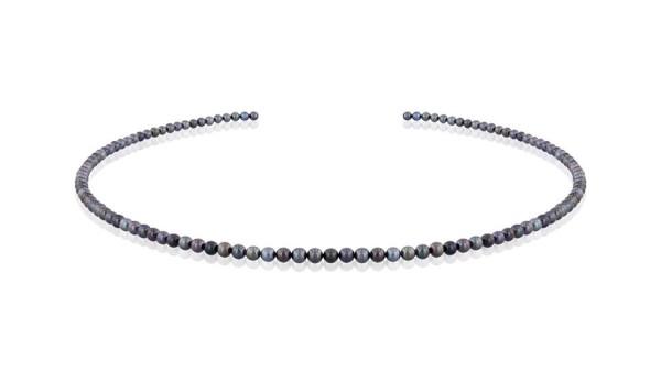 Parelketting zwarte parels Akoya 3,5 tot 4 mm
