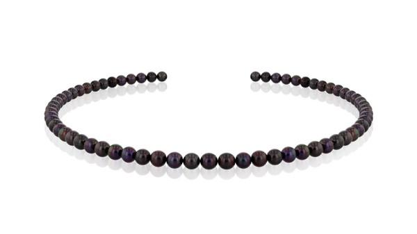 Parelketting zwarte parels Akoya 6 tot 6,5 mm