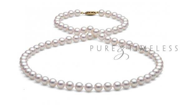 6,5 tot 7 mm Akoya parelketting AA+