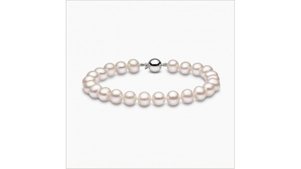 Parel armband zoetwaterparels 8-8,5 mm witgoud AA+