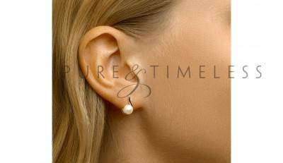 Bijzonder vormgegeven parel oorknoppen