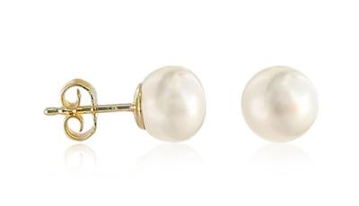 Bouton parels op gouden stekers 8-8,5 mm