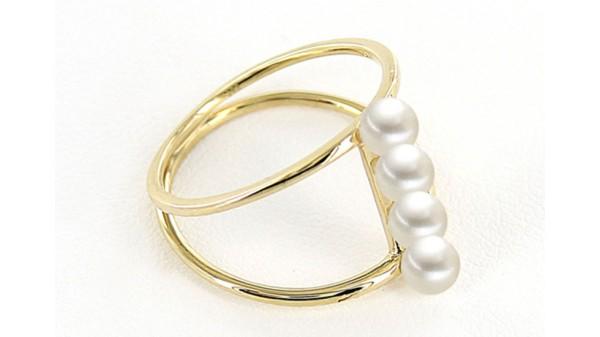 Gouden ring met 4 zoetwaterparels