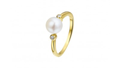 Ring parel en diamant 0.04 ct