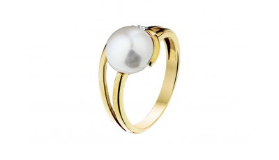 Ring parel en diamant 0.015 krt