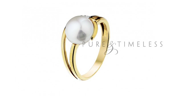 Ring parel en diamant 0.15 krt