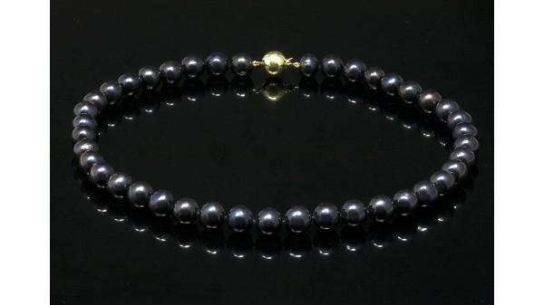 Parelcollier zwart AA+ kwaliteit 10-11 mm