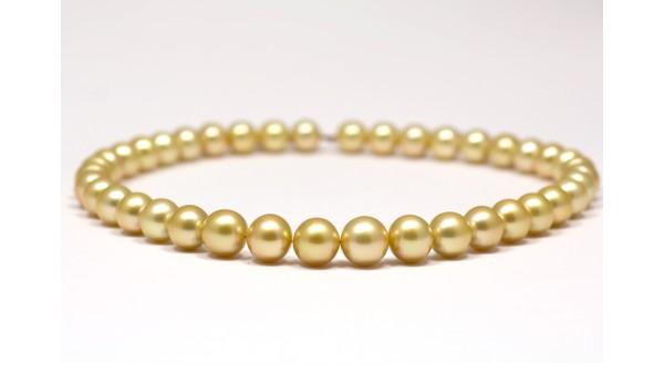 Collier gouden zuidzeeparels AAA 10-13,3 mm oplopend