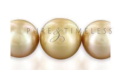 Collier van gouden zuidzeeparels 10 - 13,8 mm