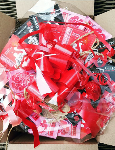 Gratis Valentijnsdag Theeboeket