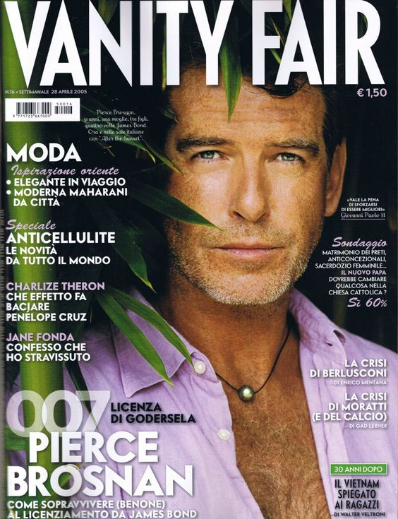 Pierce Brosnan met parel
