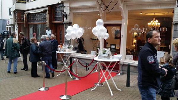 Impressie opening parelwinkel Pure & Timeless