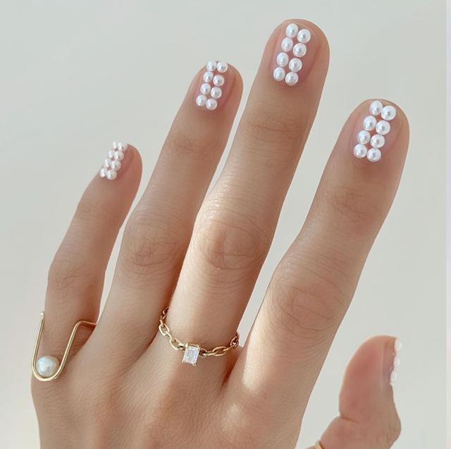 parels op nagels