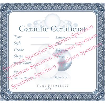 Certificaat van echtheid parels